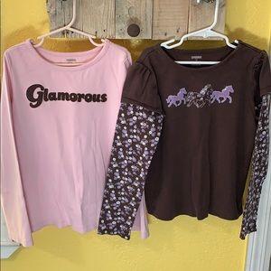 Gymboree Girls Long Sleeve Shirt Bundle